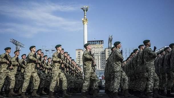 Військовий парад до Дня Незалежності у Києві на Хрещатику: онлайн трансляця