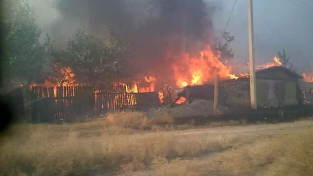 Пожежа на окупованій Луганщині