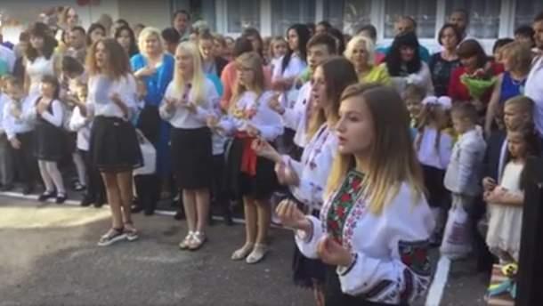 Гимн Украины исполнили на языке жестов