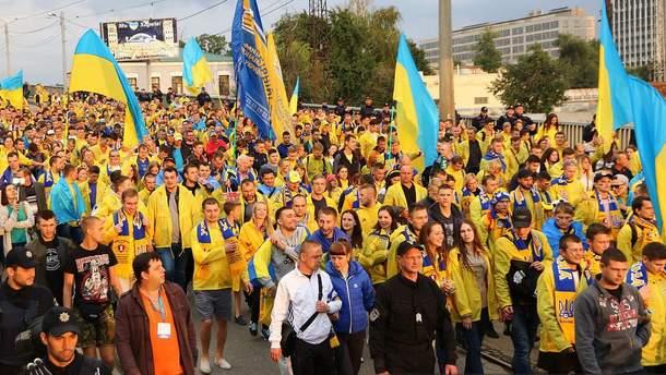 """Українці передали скандальний """"привіт"""" Путіну зі стадіону Харкова"""