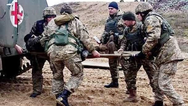 Боец АТО получил ранение на Донбассе