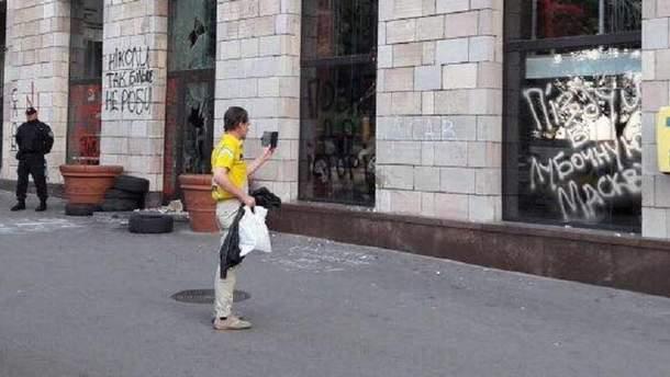 Стерли графіті в Києві