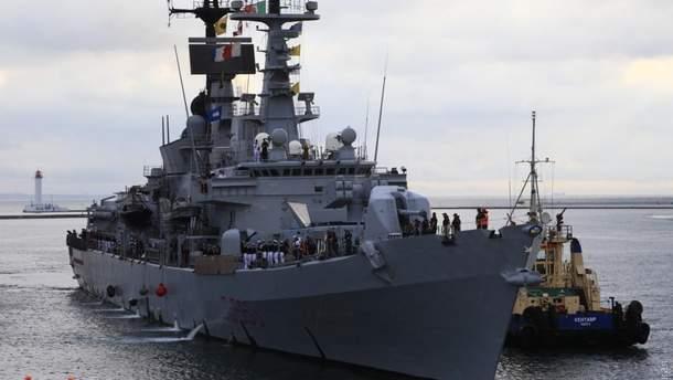 Эсминец Италии зашел в порт Одессы