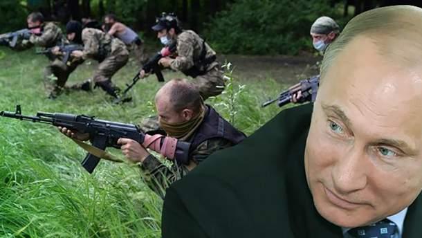 Владимир Путин и террористы Донбасса