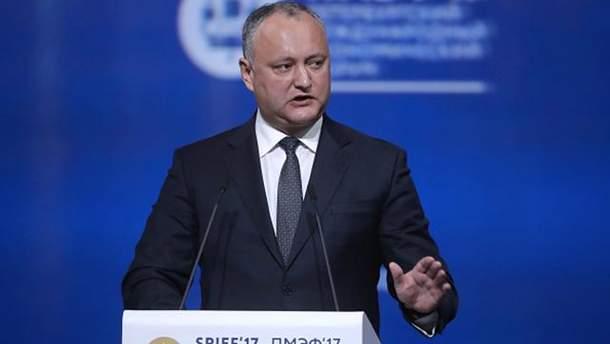 Додон запретил военным Молдовы участвовать в Rapid Trident-2017
