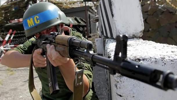 Представитель миротворческих сил РФ