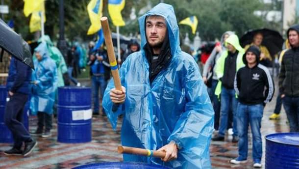 Протесты в Киеве владельцев авто с иностранной регистрацие