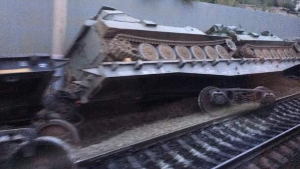 В России сошел  с рельсов поезд