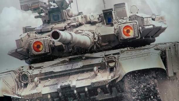 Снаряд срикошетил после выстрела из танка