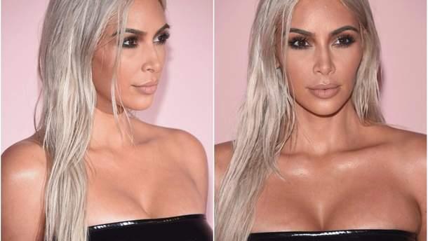 Ким Кардашян снова блондинка