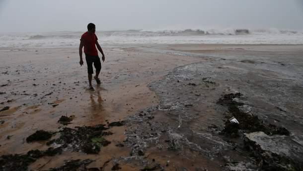 Сокрушительное действие урагана в Карибском регионе