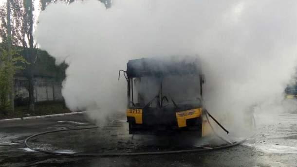 В киевском троллейбусном депо №2 произошел пожар