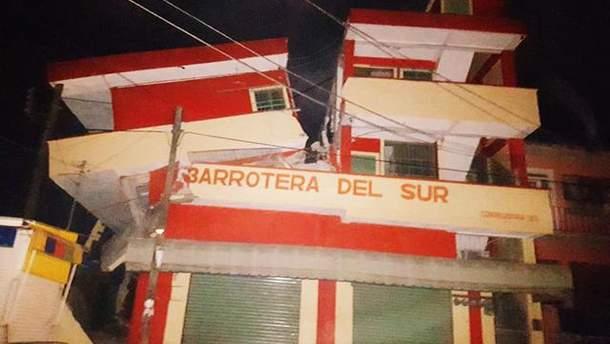 Землетрясение в Мексике причинило разрушения