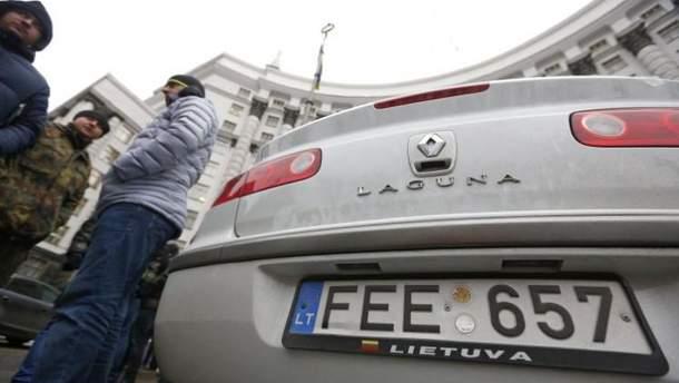 Протесты автомобилистов под Кабинетом министров