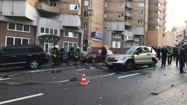 Смертельный взрыв авто в центре Киева: появилось видео инцидента