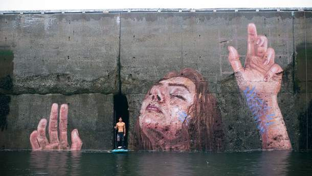 Графіті на стіні затоки Фанді