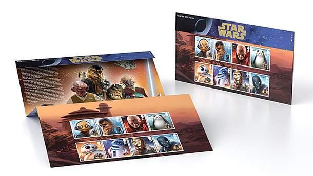 """Британская почта выпустит марки в честь """"Звездных войн"""""""