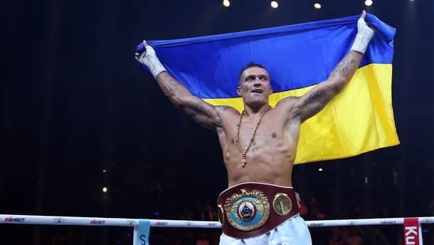Александр Усик после победы над Марком Хуком