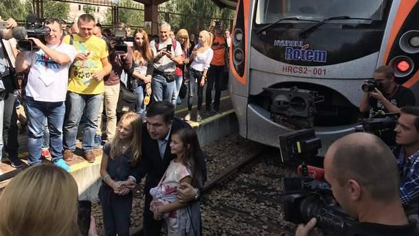 """Поезд """"Интерсити +"""" не уедет из Перемышля, пока его не покинет Саакашвили"""