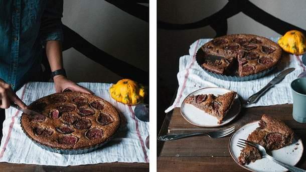 Рецепт тарту з інжиром та горіхами