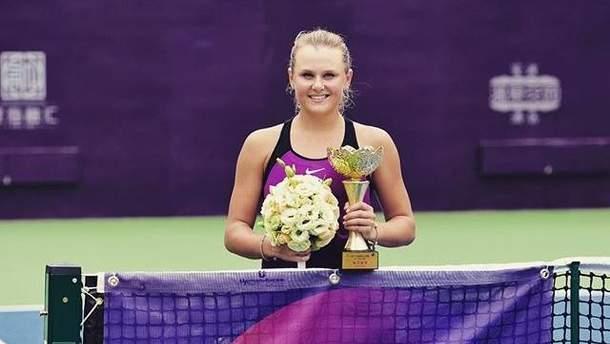 Украинка Козлова блестяще обыграла россиянку, выиграв турнир в Китае