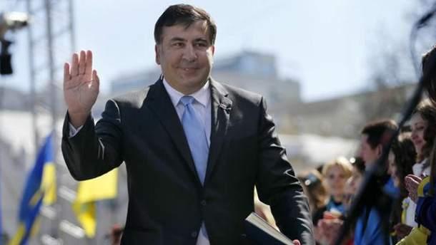 Саакашвили уже во Львове: видео
