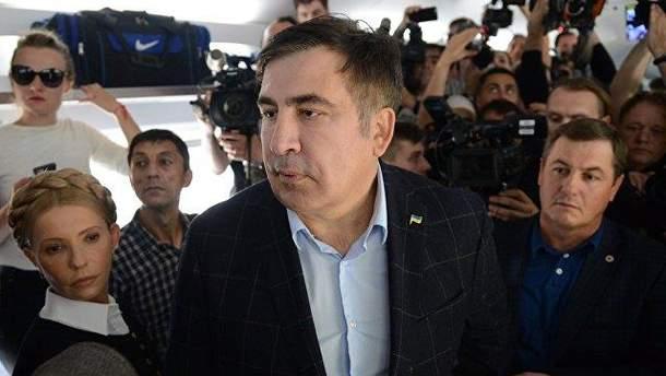 """Михаил Саакашвили """"прорвался"""" в Украину"""