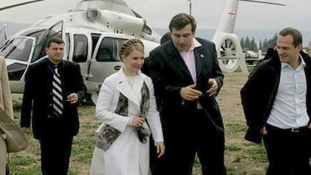 Юлія Тимошенко та Міхеїл Саакашвілі