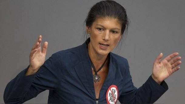Сара Вагенкнехт виступає за зближення Німеччини та Росії