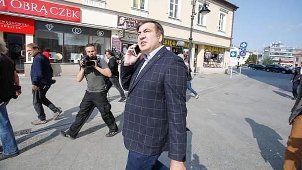Михаил Саакашвили вблизи украино-польской границы