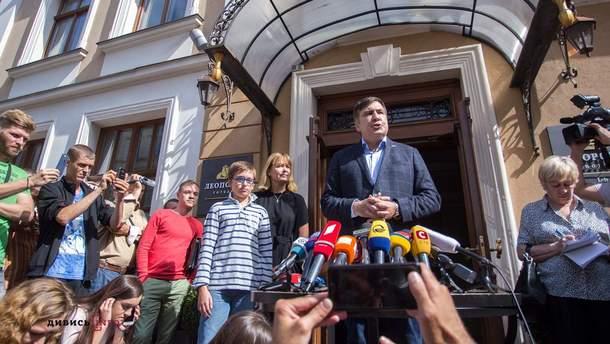 В отель, в котором проживает Саакашвили, пришли пограничники