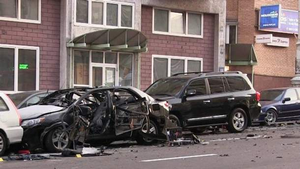 Последствия взрыва на Бессарабке в Киеве