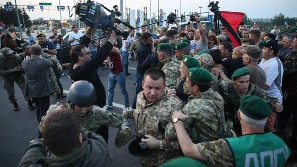 """Стычки при """"прорыве"""" Саакашвили через границу"""