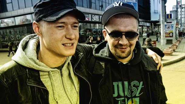Андрей Хлывнюк и Баста во время совместной работы