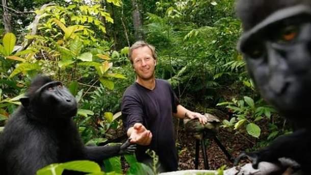 Дэвид Слейтер и обезьяны