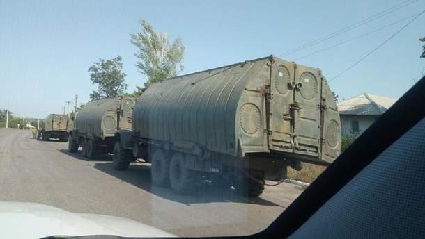 На Донбассе зафиксировано три колонны военной техники из России