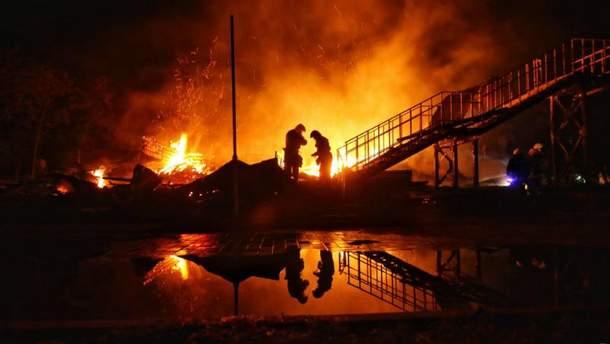 Пожар произошел в детском лагере в Одессе