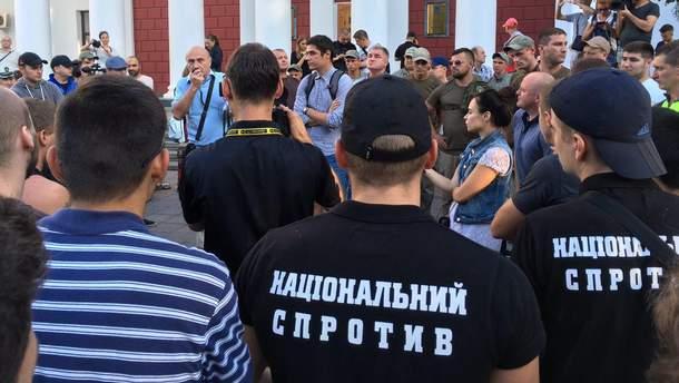 Мітинг під мерією Одеси