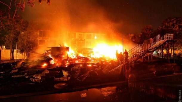 Пожар в лагере в Одессе