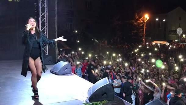 Ураган на концерте Златы Огневич в Хмельницкой области