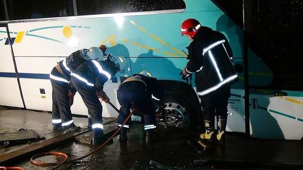 В Ивано-Франковске перевернулся автобус с польскими паломниками