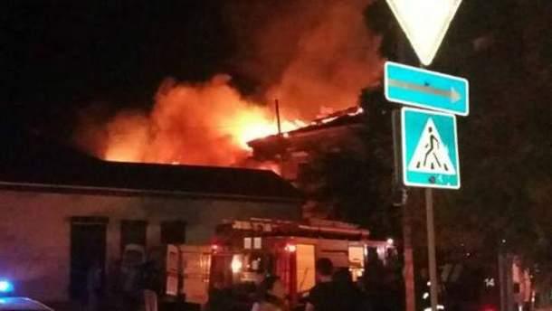 Страшный пожар в Херсоне