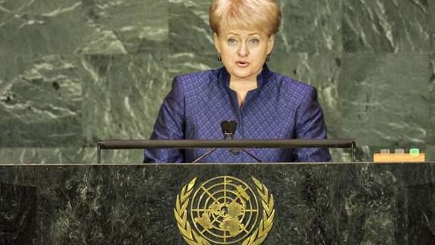 Грибаускайте обвинила Россию в подготовке нападения на Запад