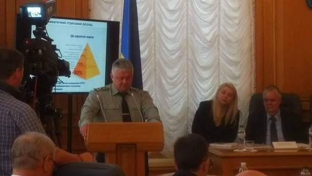 Олег Друзь виступає на засіданні комітету Верховної Ради