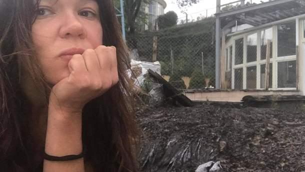 В дом Русланы Лыжичко попала молния – дом сгорел