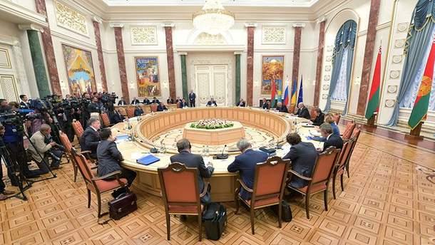 Заседание трехсторонней контактной группы в Минске