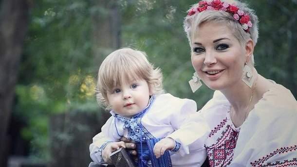 Мария Максакова вместе с сыном Ванечкой
