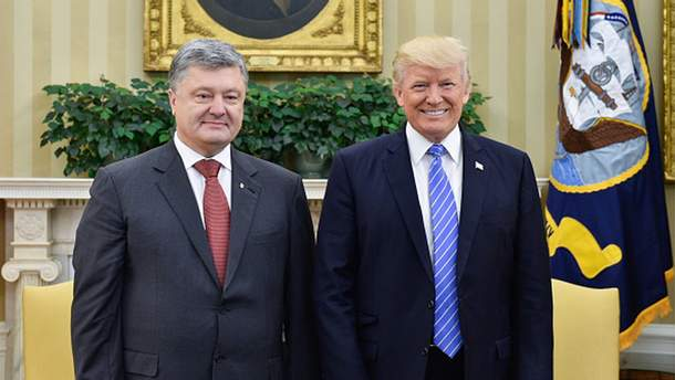 Петр Порошенко и Дональд Трамп