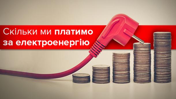 Тарифи на електроенергію в Україні та Європі-2017