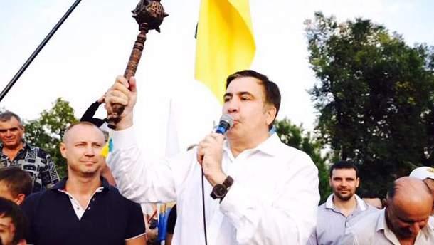 Саакашвили готовится к митингу в Киеве 17 октября